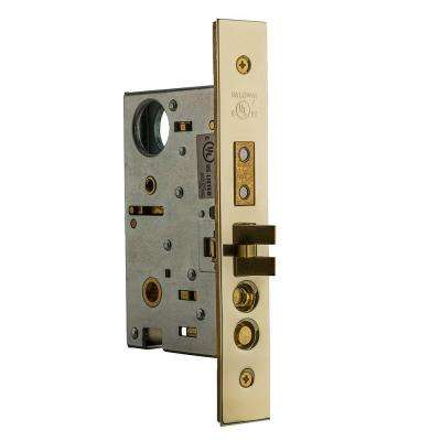 Lifetime Polished Brass Entrance Emergency Egress Right-Handed Mortise Lock