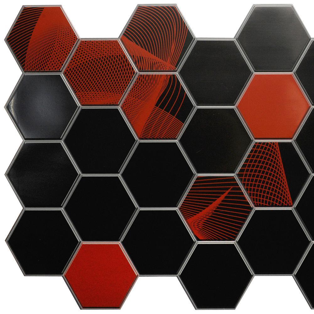 3d falkirk retro 101000 in x 38 in x 19 in black red