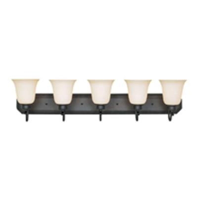 Montego 5-Light Oil Rubbed Bronze Bath Bar Light