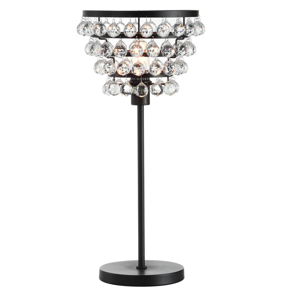 Buckingham 25 in. Bronze/Clear Crystal/Metal Table Lamp