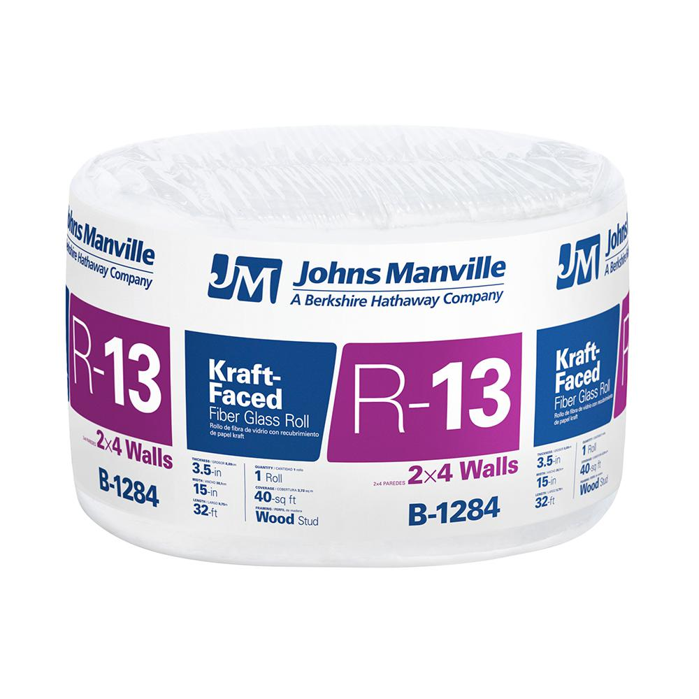 R-13 Kraft Faced Fiberglass Insulation Roll 15 in. x 384 in.
