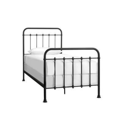 Dorley Farmhouse Black Metal Twin XL Bed (42.91 in W. X 53.54 in H.)