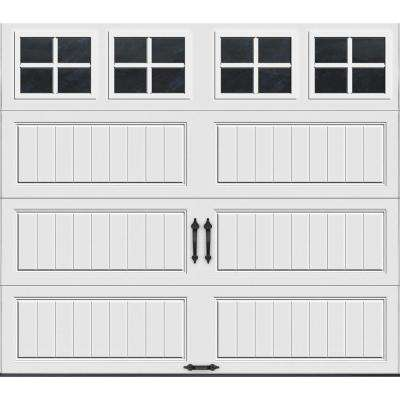 Gallery Collection 8 ft. x 7 ft. 18.4 R-Value Intellicore Insulated White Garage Door with SQ22 Window