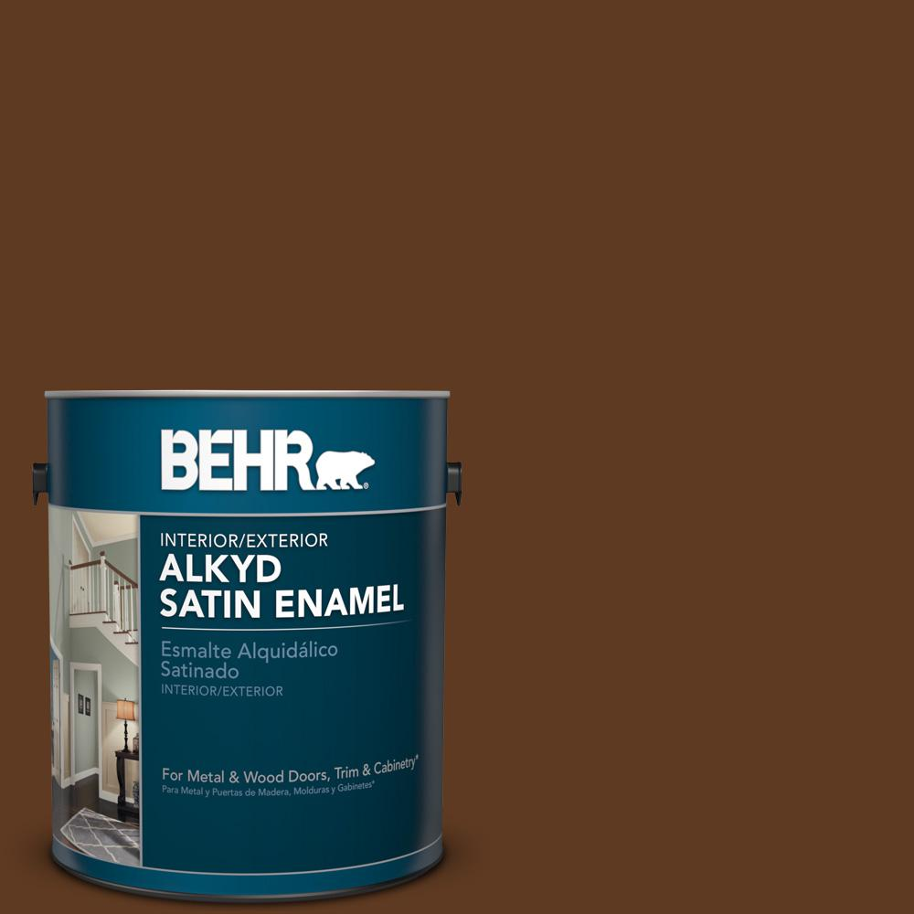 1 gal. #SC-129 Chocolate Satin Enamel Alkyd Interior/Exterior Paint