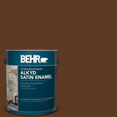 Sc 129 Chocolate Satin Enamel Alkyd Interior Exterior Paint