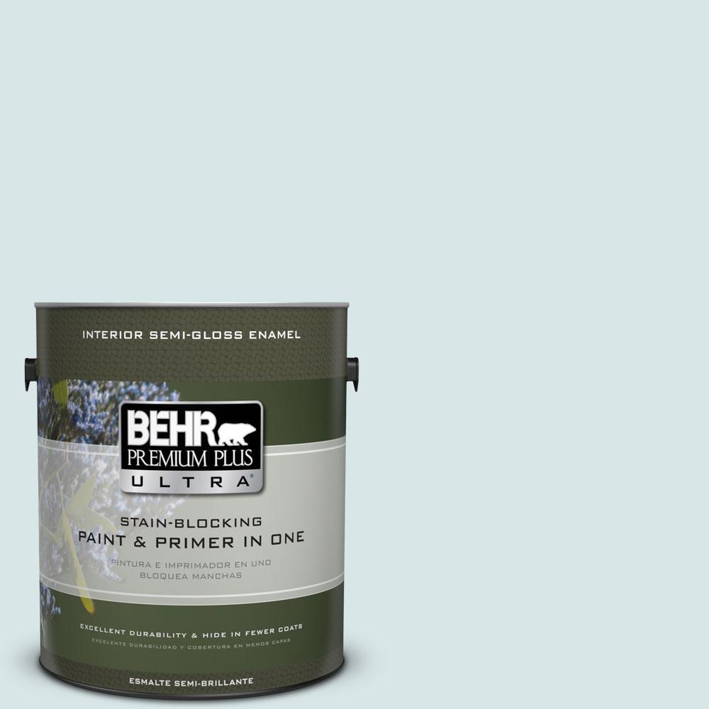1-gal. #500E-2 Aqua Breeze Semi-Gloss Enamel Interior Paint