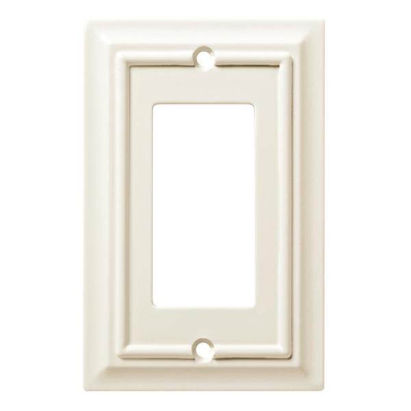 White 1-Gang Decorator/Rocker Wall Plate (1-Pack)