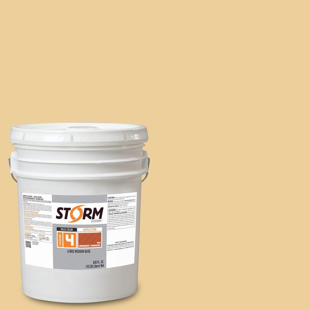 Storm System Category 4 5 gal. Susan's Glow Exterior Wood Siding, Fencing and Decking Acrylic Latex Stain with Enduradeck Technology