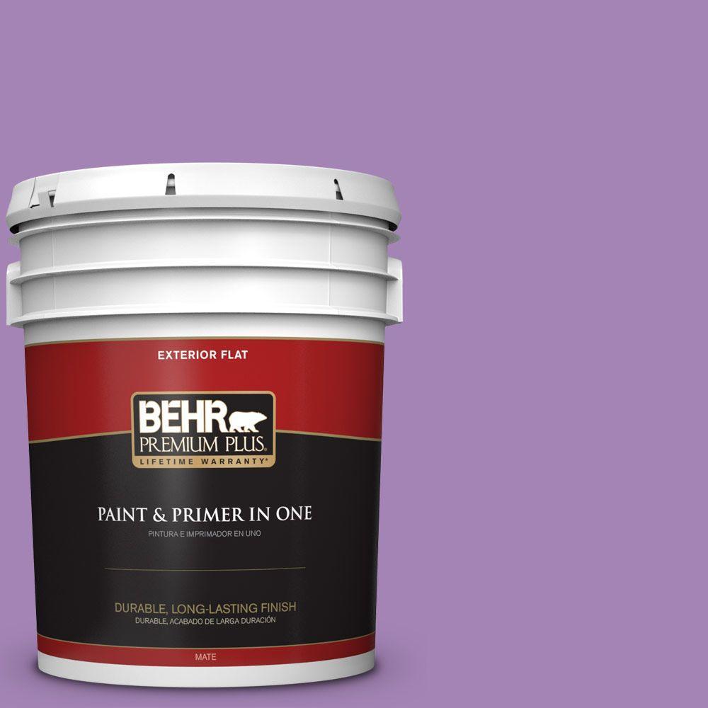 BEHR Premium Plus 5-gal. #660B-6 Daylight Lilac Flat Exterior Paint