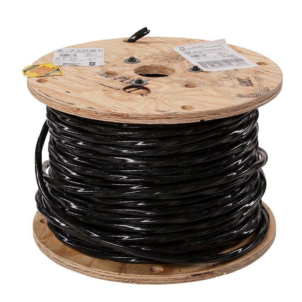 Copper Electrical Wire Home Depot Not Lossing Wiring Diagram Connectors Tools Accessories The Southwire 500 Ft 6 3 Stranded Romex Simpull Cu Nm B W G Rh Homedepot Com Commercial Cutters