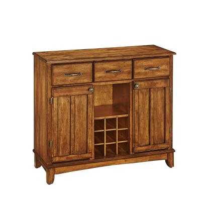 Cottage Oak Buffet With Wine Storage