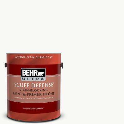 1 gal. Ultra Pure White Extra Durable Flat Interior Paint and Primer in One