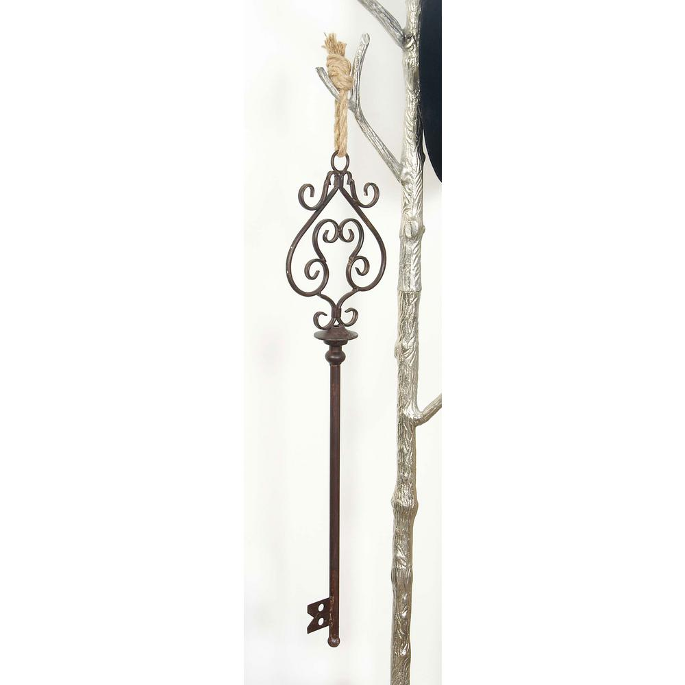31 in. x 10 in. Old World Black Iron Skeleton Key