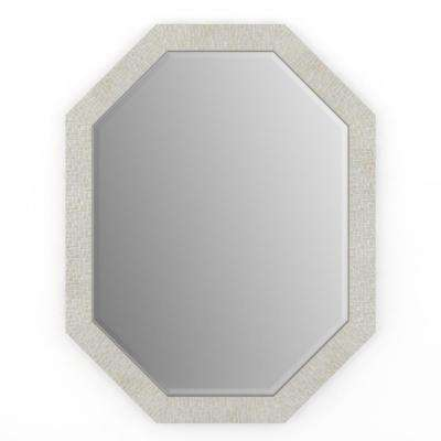 26 in. x 34 in. (M2) Octagonal Framed Mirror with Deluxe Glass and Flush Mount Hardware in Stone Mosaic