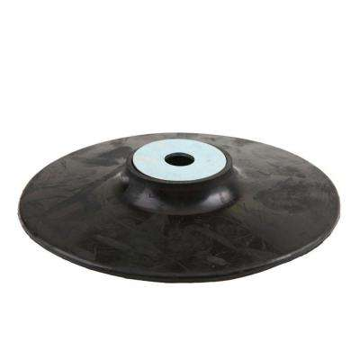 4 in. Rubber Backing Pad with M10 x 1.25 in. Nut