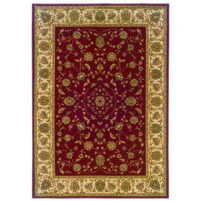 Kurdamir Rockland Crimson 5 ft. 3 in. x 7 ft. 7 in. Area Rug