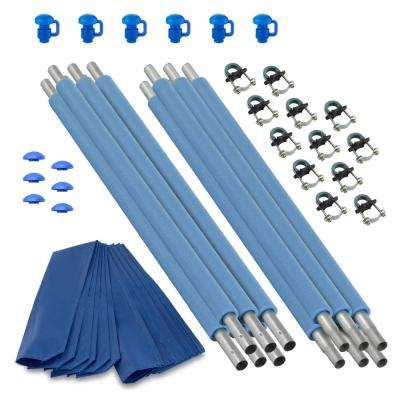 Trampoline Replacement Enclosure Poles and Hardware, Set of 6 (Net Sold Separately)