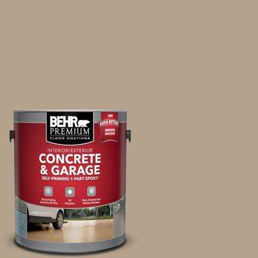 1 gal. #PFC-33 Washed Khaki Self-Priming 1-Part Epoxy Satin Interior/Exterior Concrete and Garage Floor Paint