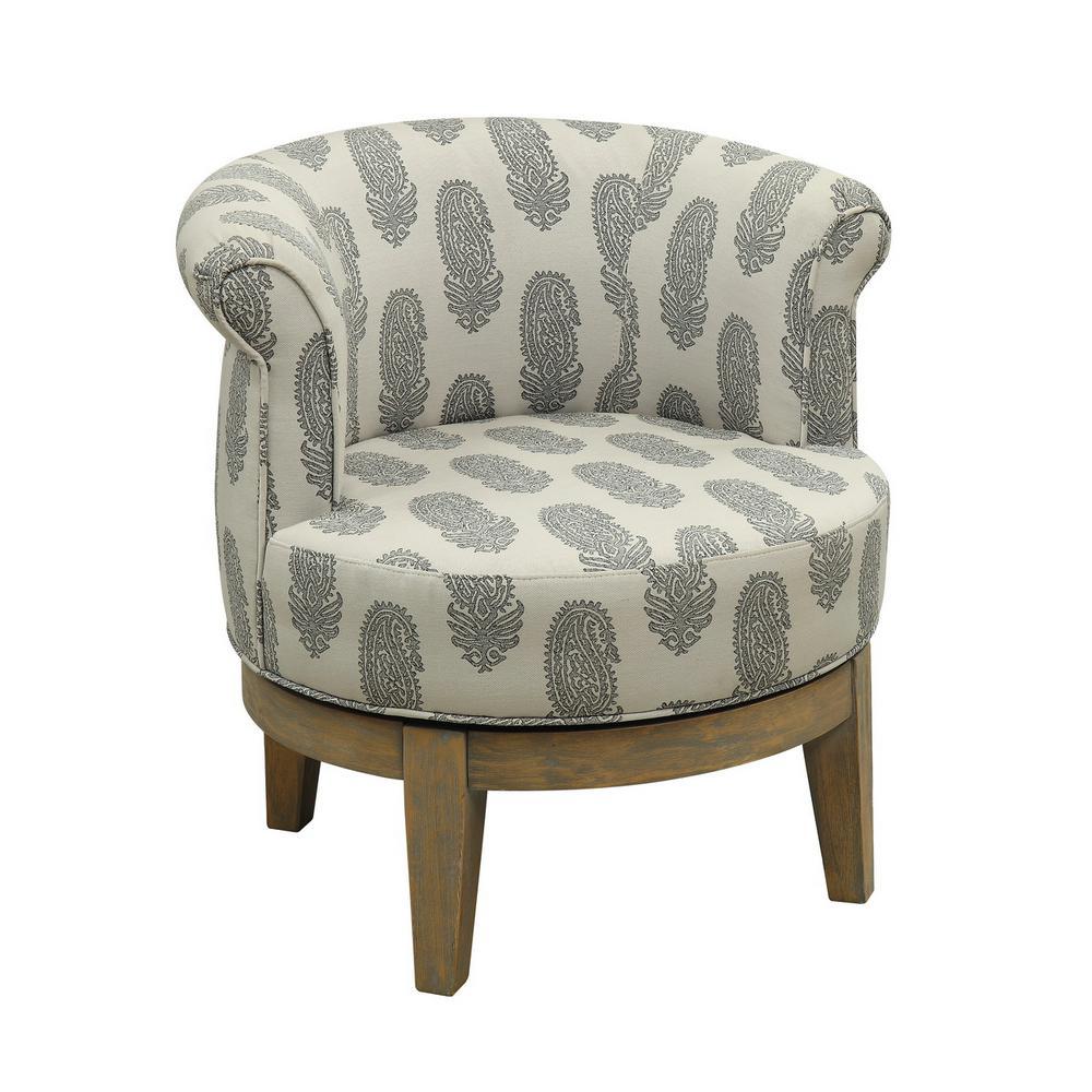 Beachum Distressed Swivel Accent Chair