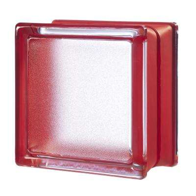 Cherry 5.75 in. x 5.75 in. x 3.15 in. Classic Red Glass Block (6-Pack)
