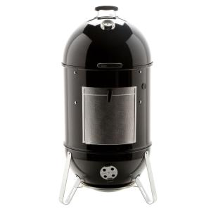 Weber Smoky Mountain >> Weber 22 In Smokey Mountain Cooker Smoker In Black With Cover And Built In Thermometer 731001 The Home Depot