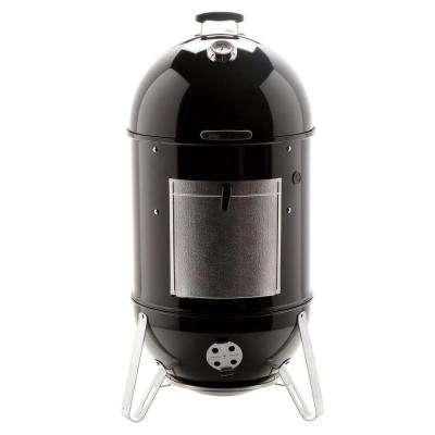 22-1/2 in. Smokey Mountain Cooker Smoker in Black with Cover and Built-In Thermometer