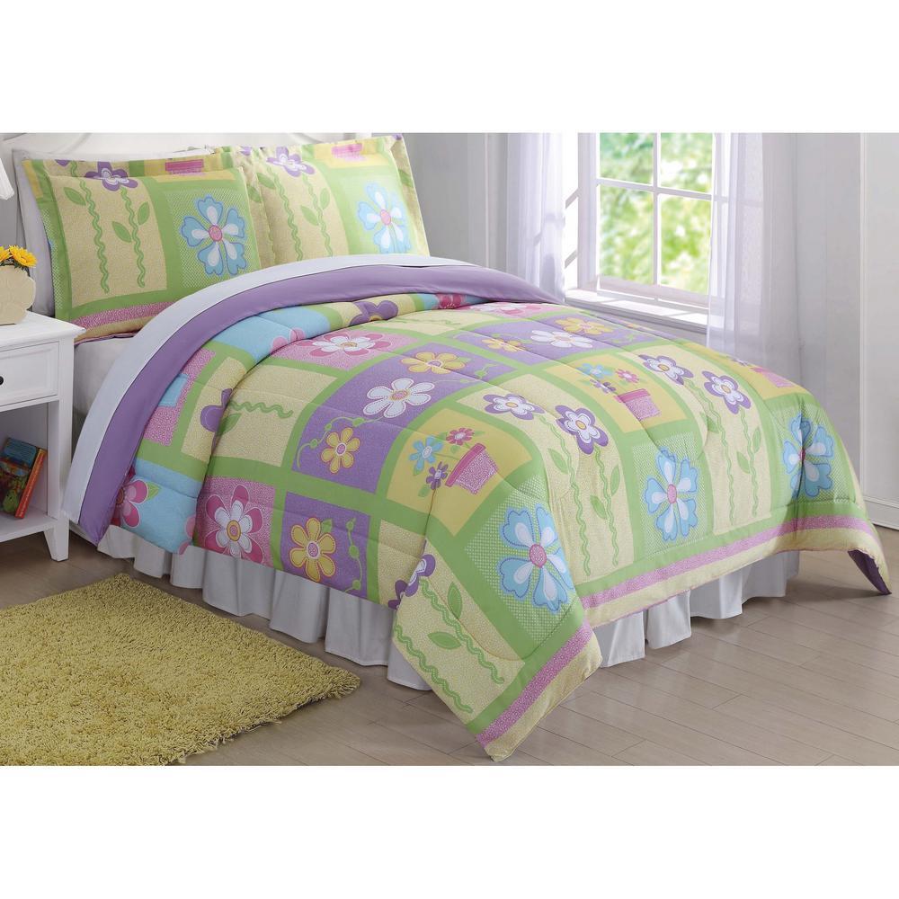 Sweet Helena Yellow Queen Comforter Set