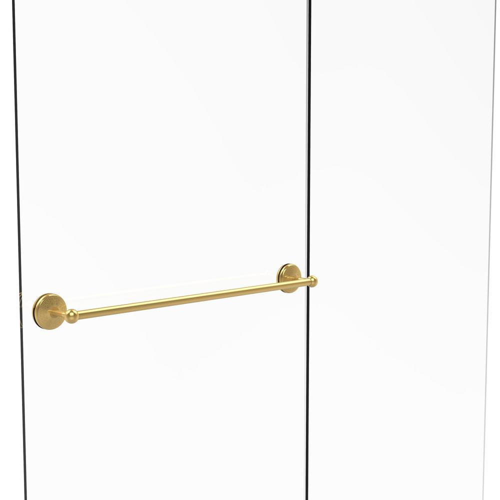 Allied Brass Monte Carlo Collection 30 in. Shower Door Towel Bar in ...