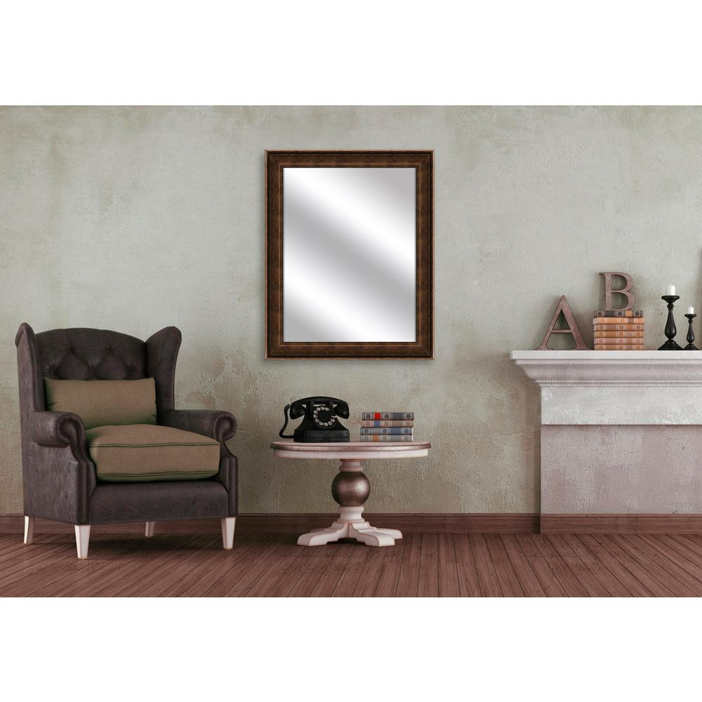 31.5 in. x 25.5 in. Gold Framed Mirror