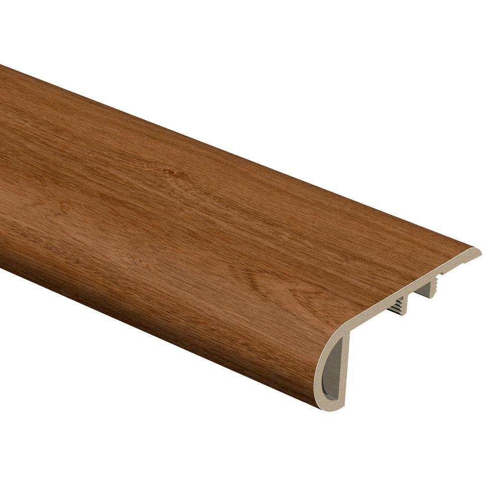 Zamma Sapelli Red 3/4 in. Thick x 2-1/8 in. Wide x 94 in. Length Vinyl Stair Nose Molding, Brown