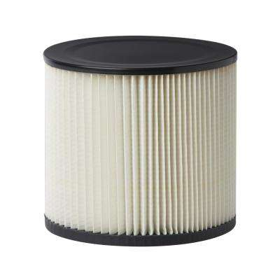 Standard Replacement Cartridge Filter for Most Genie and Shop-Vac Wet/Dry Vacuums (6-Pack)