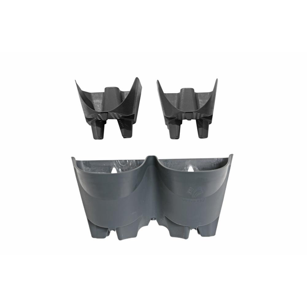 Worth Garden 12 In Grey Plastic Self Watering 2 Pockets