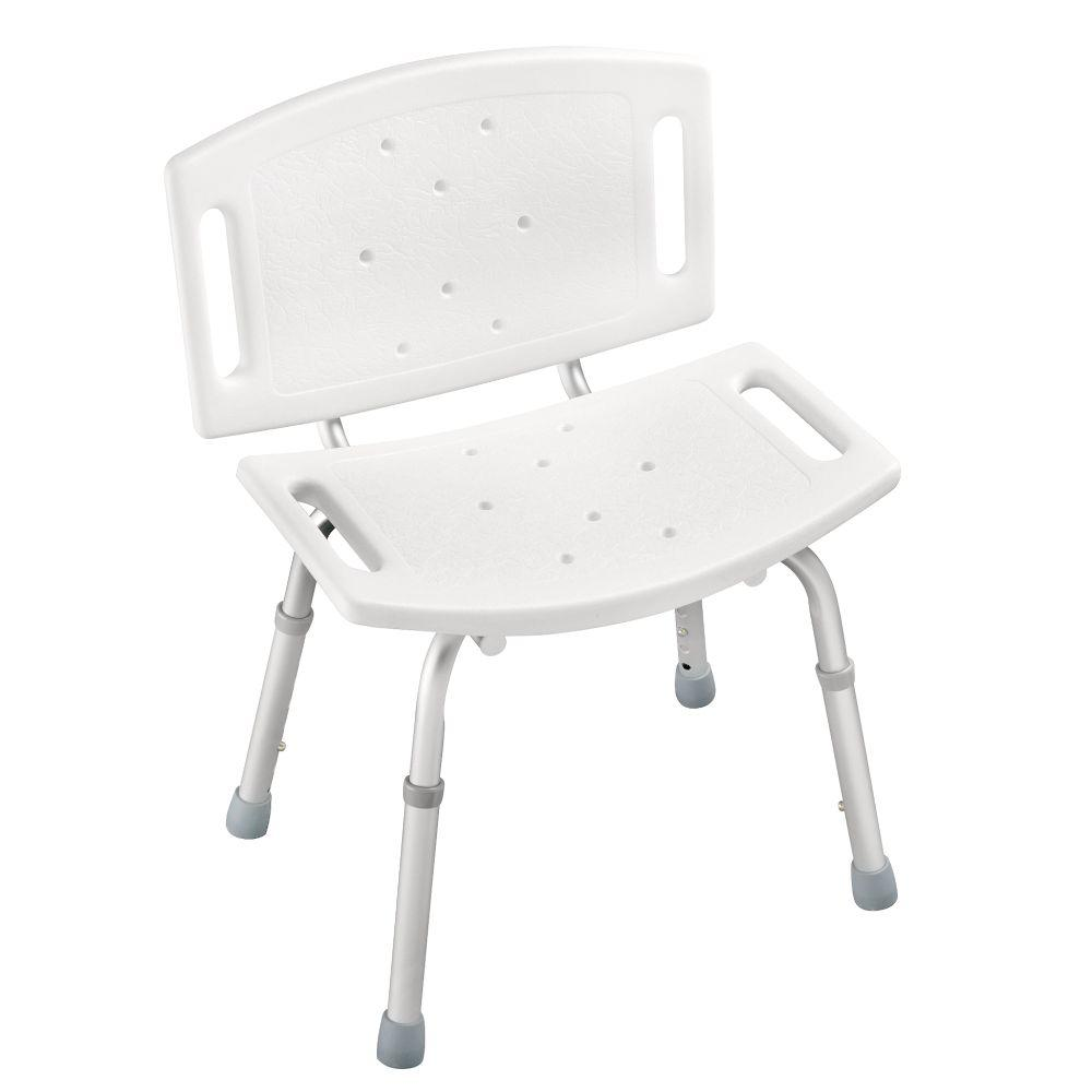 Delta Adjustable Tub and Shower Chair in White-DF599 - The Home Depot