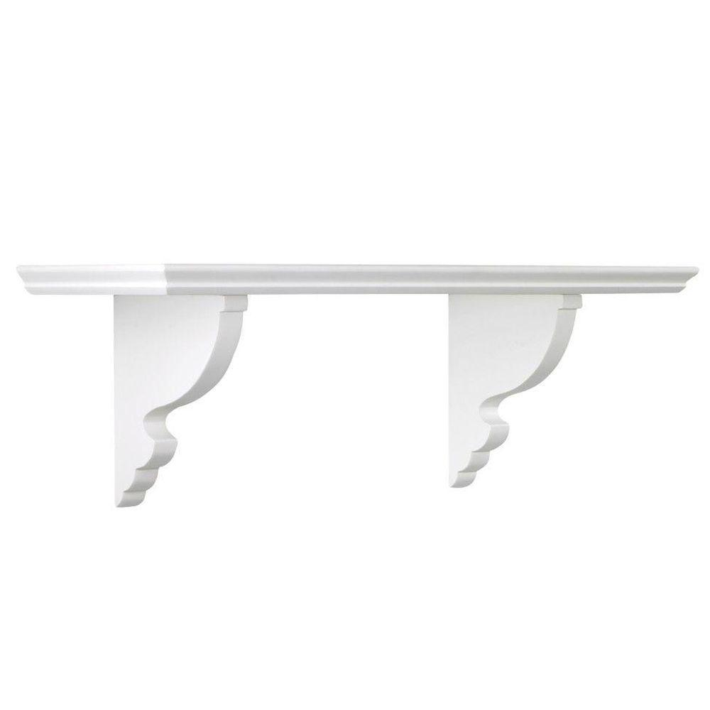 Martha Stewart Living Solutions 8 in. Floating Picket Fence Ornate Shelf