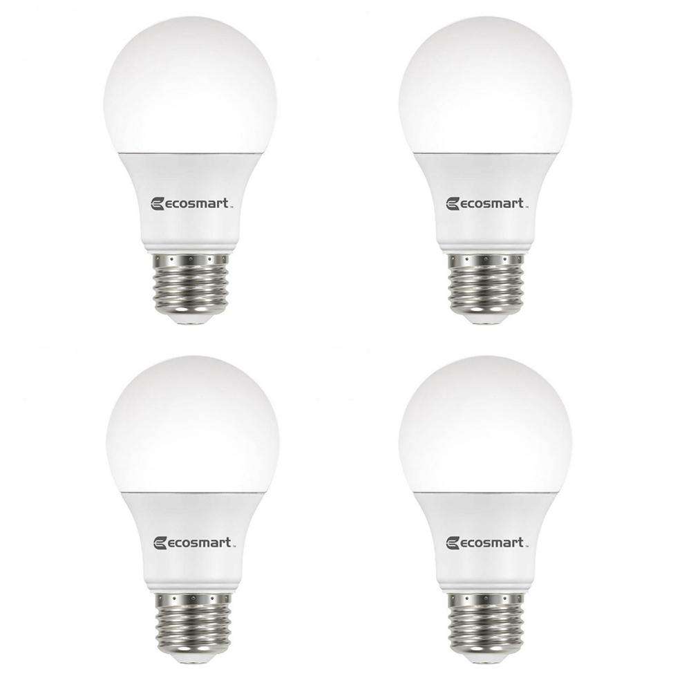 ecosmart 60 watt equivalent a15 dimmable led light bulb soft white 3 pack a15 60we w27 the. Black Bedroom Furniture Sets. Home Design Ideas