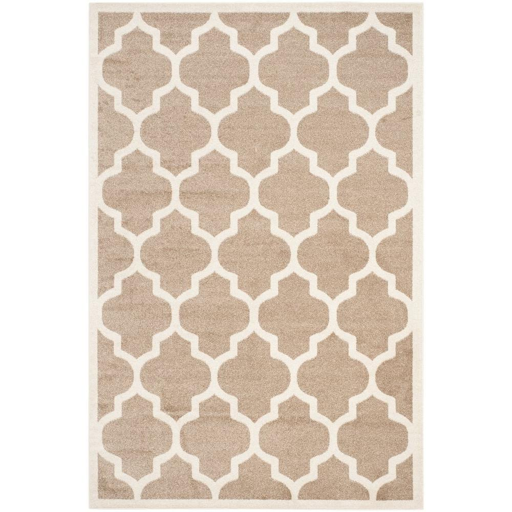 Safavieh Amherst Wheat/Beige 4 ft. x 6 ft. Indoor/Outdoor Area Rug