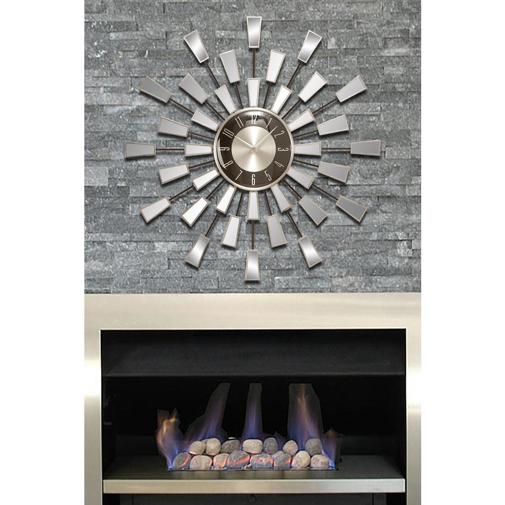 mirrored wall clock - Mirrored Wall Clock