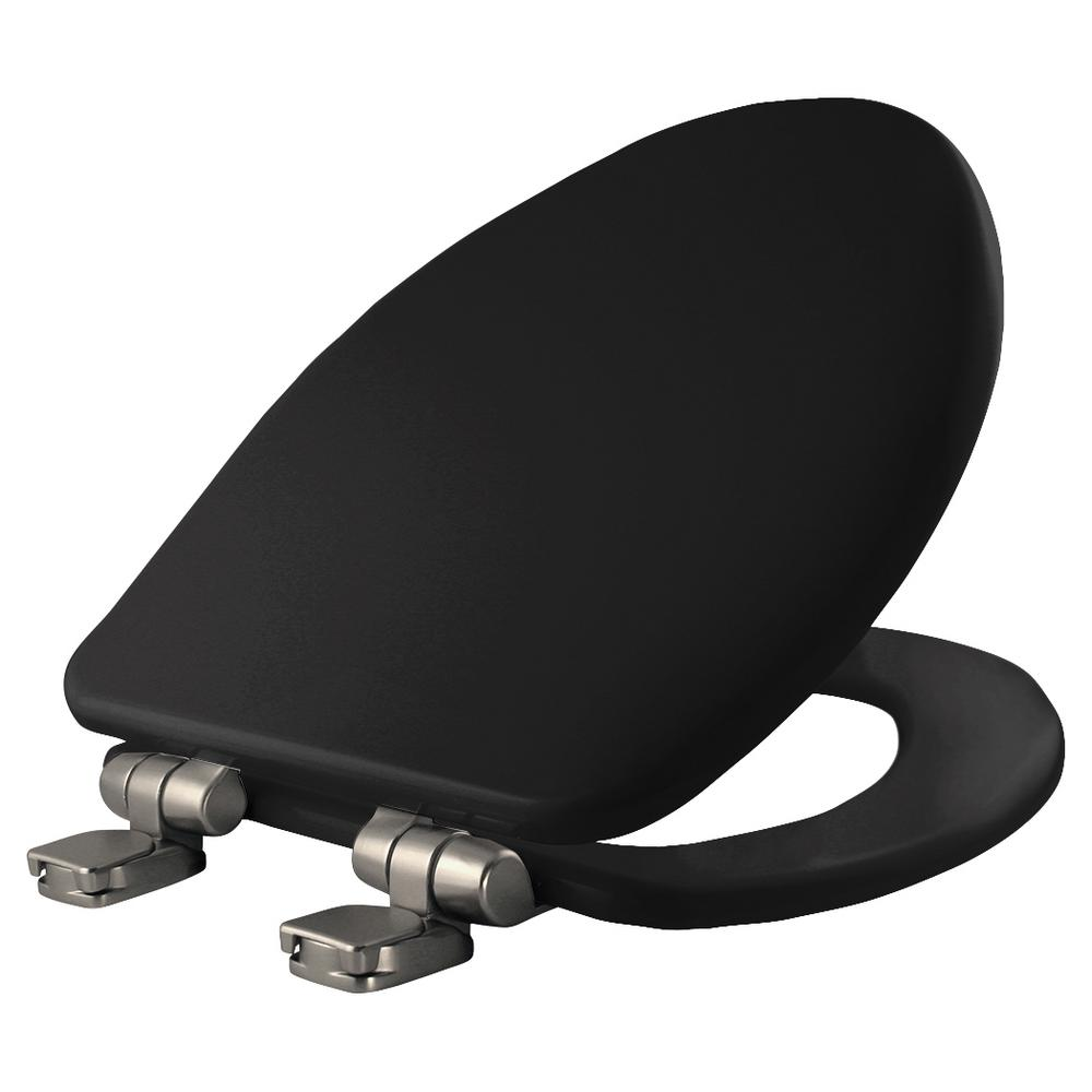 Bemis Elongated Closed Front Toilet Seat In Black