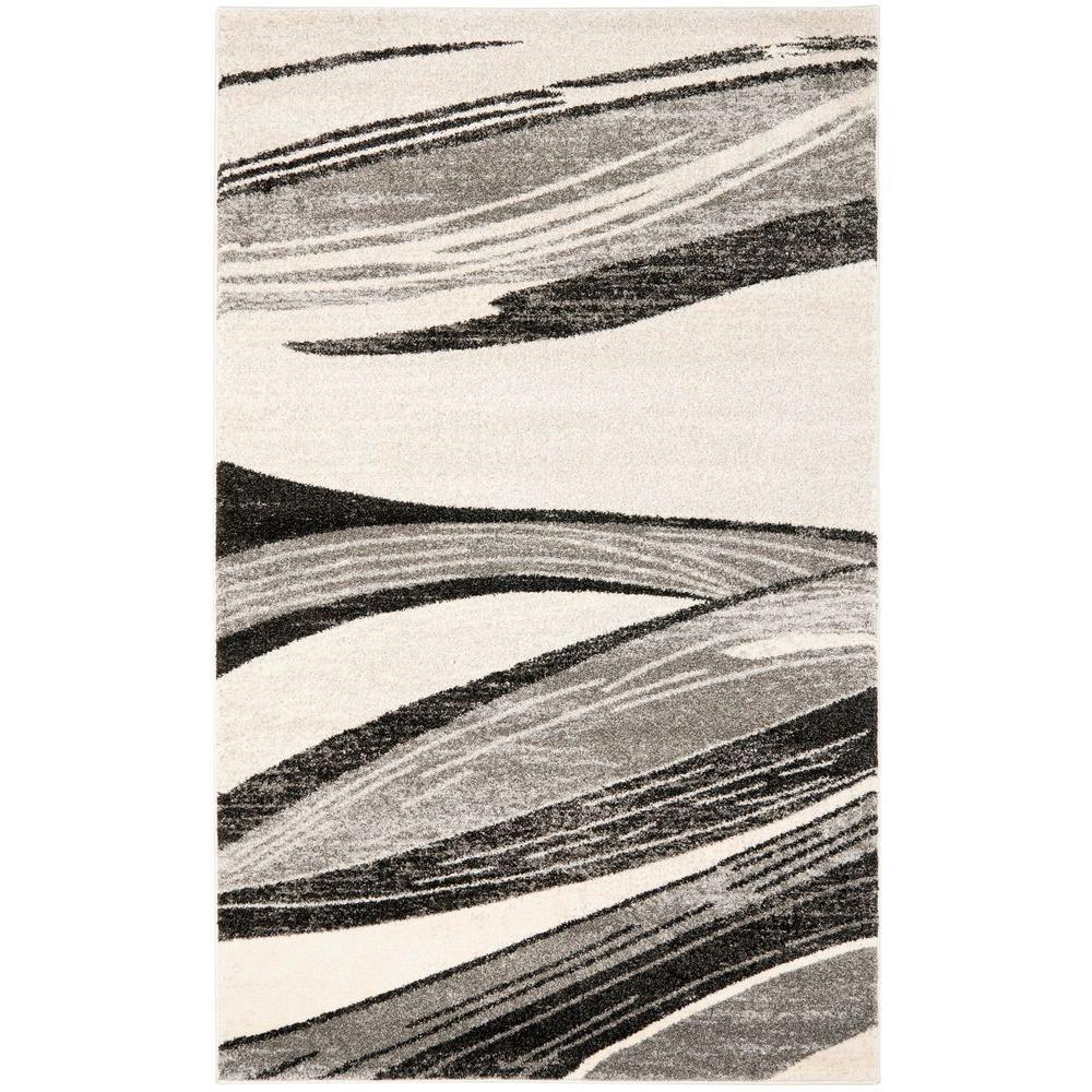 Safavieh Retro Light Grey/Ivory 8 ft. x 10 ft. Area Rug