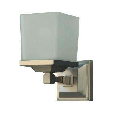 Skylands Collection 1-Light Brushed Nickel Plated Wall Sconce