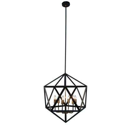 Archello 6-Light Matte Black Chandelier