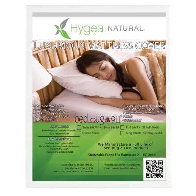 Hygea Natural Bed Bug, Luxurious Plush Fabric, and Waterproof Twin Mattress Or Box Spring Cover
