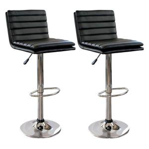 Deals on AmeriHome Modern Ripple Back Cushioned Bar Stool 2-Piece Set