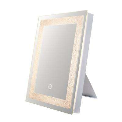 Edison Crystal 12 in. x 16 in. Wall Backlit LED mirror with Touch On/Off Dimmer