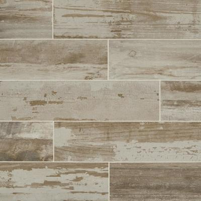 Vintage Chic Gray 6 in. x 24 in. Glazed Porcelain Floor and Wall Tile (14.53 sq. ft. / case)