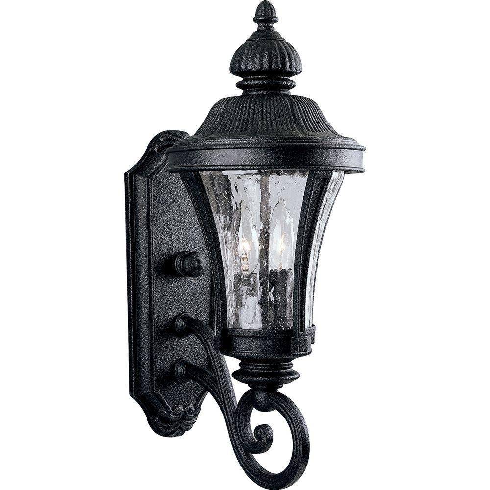 Progress Lighting Nottington Collection Gilded Iron 2 Light 19 6 In Outdoor Wall Lantern Sconce