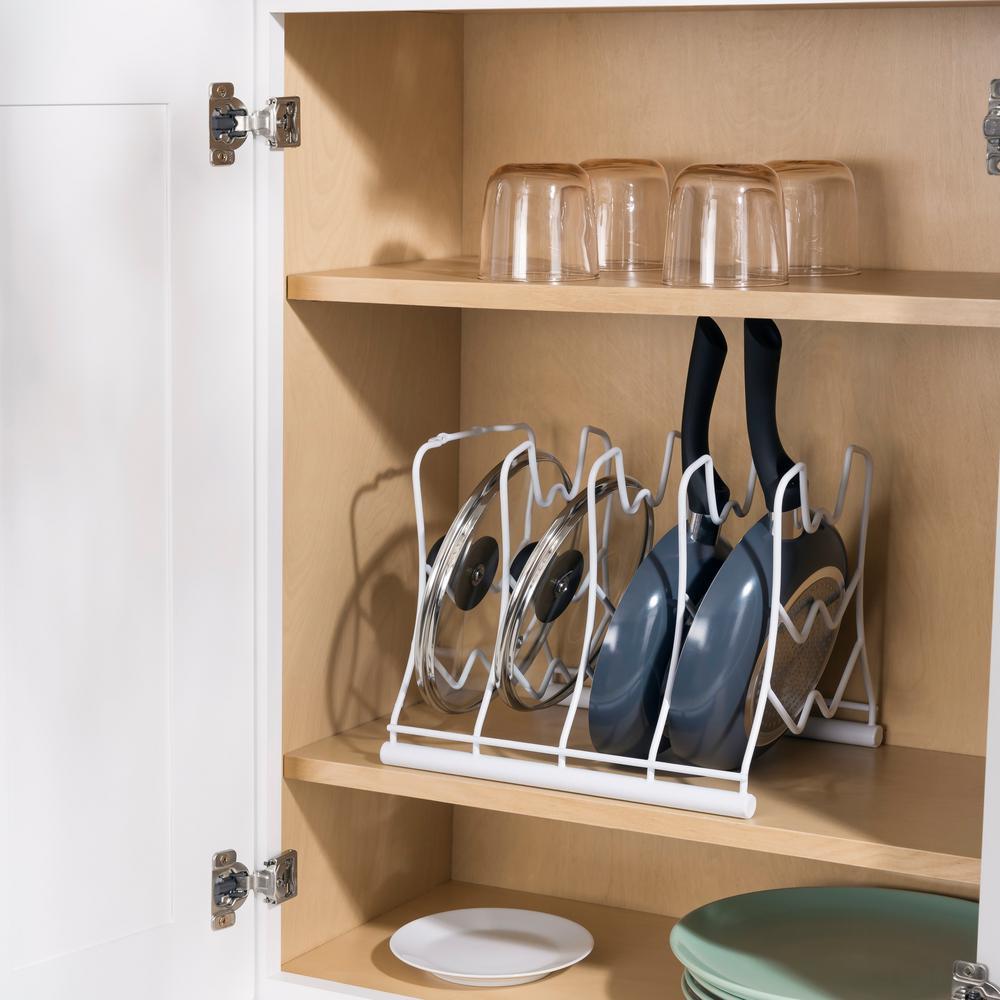 Home Basics White Vinyl Coated Pot Rack-SS44783 - The Home ...