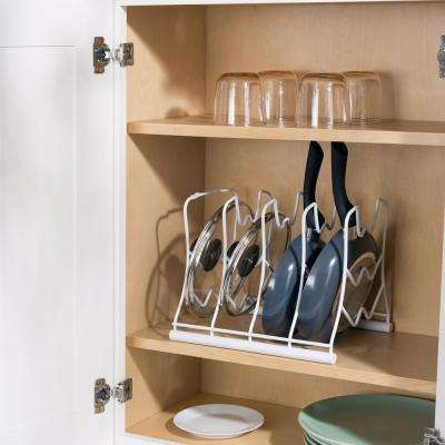 White Vinyl Coated Pot Rack