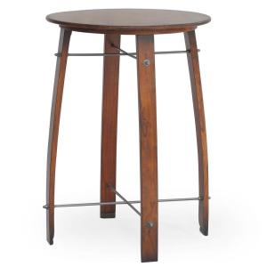 Woodford Chestnut 26 inch Round Barrel Counter Height Pub Bar Table by