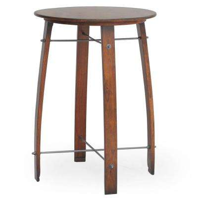 Round Barrel Counter Height Pub Bar Table
